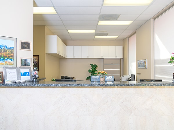 The front desk at your Arlington, WA dentists' modern office